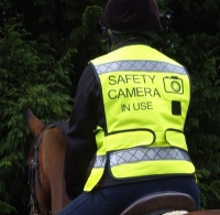 ''Safety Camera In Use'' Adjustable Mesh Waistcoat